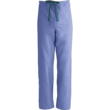 Medline ComfortEase Unisex XL Reversible Scrub Pants, Ceil Blue (900JTHXL-CM)