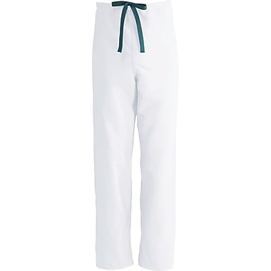 ComfortEase™ Unisex Rev Drawstring Scrub Pants, White, MDL-CC, Medium, Reg Length