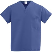 ComfortEase™ Unisex One-pocket V-neck Rev Scrub Tops, Mariner Blue, MDL-CC, Medium