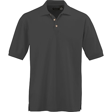 Medline Men Medium Whisper Pique Polo Shirt, Black (930BLKM)