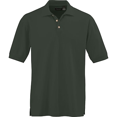 Medline Men Large Whisper Pique Polo Shirt, Forest Green (930FORL)
