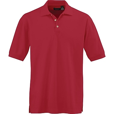 Medline Men Large Whisper Pique Polo Shirt, Red (930REDL)