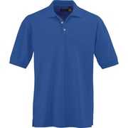 Medline Mens Whisper Pique Polo Shirts, Royal Blue, Medium