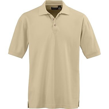 Medline Men Large Whisper Pique Polo Shirt, Putty (930TANL)
