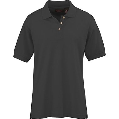 Medline Ladies Whisper Pique Polo Shirts, Black, Medium