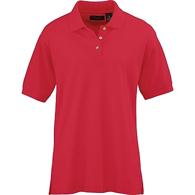 Medline Ladies Whisper Pique Polo Shirts, Red, XL