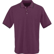 Medline Mens Rib Collar Polo Shirts, Wine/White, Medium