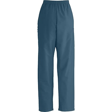 Medline ComfortEase Unisex XL, Medium Length Cargo Scrub Pants, Caribbean (9351JCBXLM)