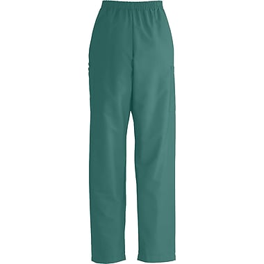 ComfortEase™ Unisex Elastic Cargo Scrub Pants, Evergreen, Small, Long Length