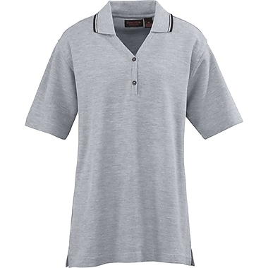 Medline Ladies Rib Collar Polo Shirts, Heather Gray, Medium