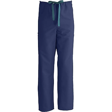 ComfortEase™ Unisex Non-Rev Drawstring Cargo Scrub Pants, Midnight Blue, MDL-CC, Large, Reg Length