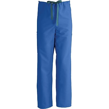ComfortEase™ Unisex Non-Rev Drawstring Cargo Scrub Pants, Royal Blue, MDL-CC, Large, Reg Length
