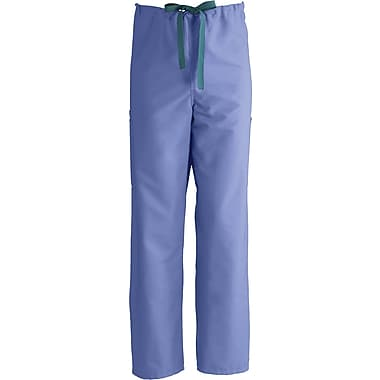 ComfortEase™ Unisex Non-Rev Drawstring Cargo Scrub Pants, Ceil Blue, MDL-CC, Small, Reg Length