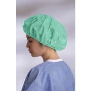Boundary® Bouffant Caps, Green, Medium