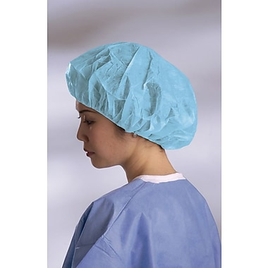 Medline Boundary Regular/Large Bouffant Caps, Blue (CRI1004)