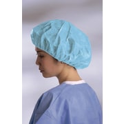 Medline Boundary Medium Bouffant Caps, Blue (CRI1001)