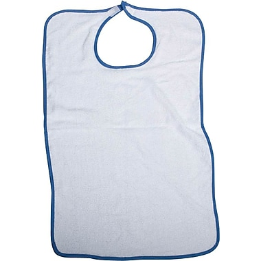 Medline Snap Closure Adult Bibs, White, 6 Dozen/Case