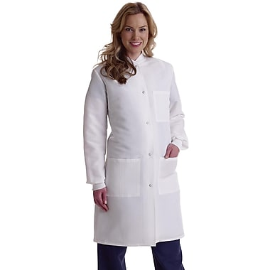 Medline ResiStat Women Medium Full Length Lab Coat, White (MDT046815M)