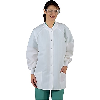Resistat® Ladies Protective Warm-up Jackets, White, Large