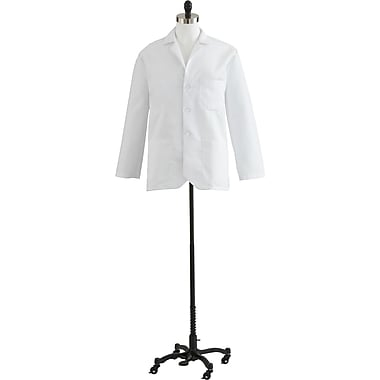 Medline Men Small Consultation Lab Coat, White (MDT10WHT38E)