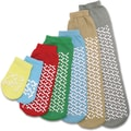 Medline Single-tread Slipper Socks, Green, Medium