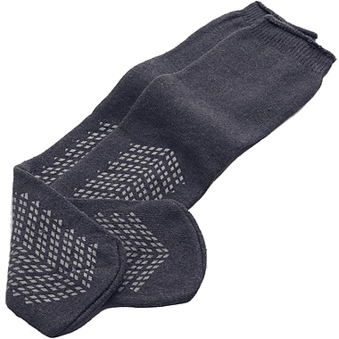Medline Double-tread Slippers, Gray, Bariatric