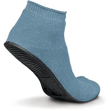 Sure-Grip® Rubber Sole Slippers, Light Blue, Medium