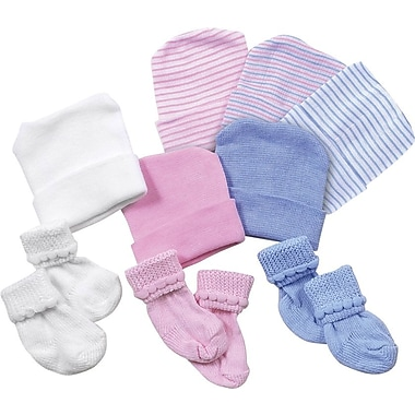 Medline Infant Head Warmers, Pink/Blue Stripe,  50/Pack