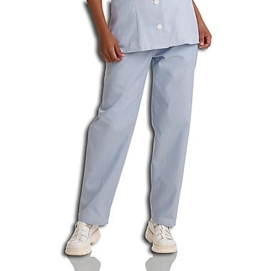Medline Ladies Elastic Waist Pincord Pants, Blue, Medium