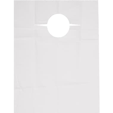 R Sabee Disposable Slip-on Adult Bibs, White, 150/Case