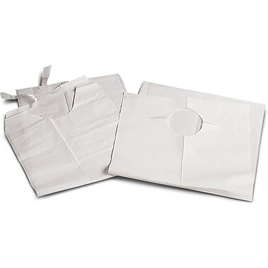 Medline Disposable Slip-on Adult Bibs, White, 150/Case