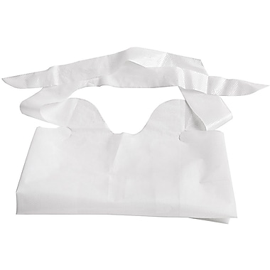Medline Waterproof Adult Bibs, White, 500/Case