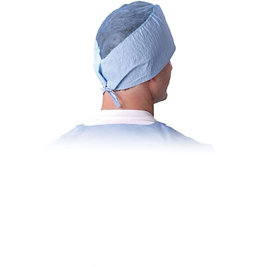Medline Sheer-Guard One Size Fits Most Surgeon's Caps, Blue (NON28625Z)