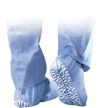 Medline Non-Skid Spunbond Shoe Covers, Blue, 300/Pack
