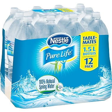 Nestlé® Pure Life Water, 1.5L Bottles, 12-Pack