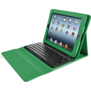 Brookstone Bluetooth® Keyboard with Tech-Grip Case for iPad® V3 V2, Kelly Green