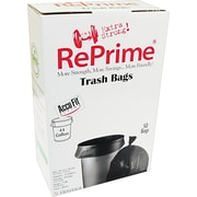 Heritage Reprime Accufit Trash Bags, Black, 44 Gallon, 50 Bags/Box