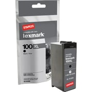 Staples® Remanufactured Black Ink Cartridge Compatible with Lexmark 100XLA, High Yield