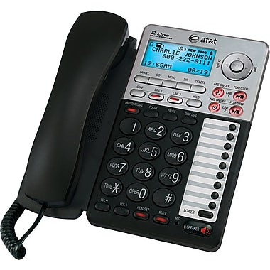 AT&T ML17939 2-Line Corded Speakerphone with Digital Answering System