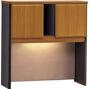 "Bush Cubix 36"" Hutch, Natural Cherry and Slate Gray"