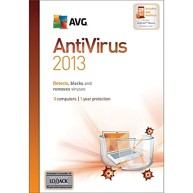 AVG Anti-Virus 2013, 1-Year for Windows (1-3 User) [Boxed]