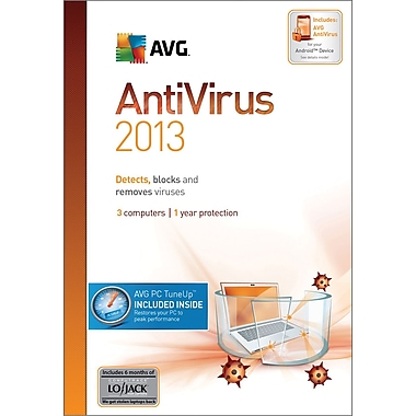 AVG Anti-Virus + PC Tune-Up 2013, 1-Year for Windows (1-3 User) [Boxed]