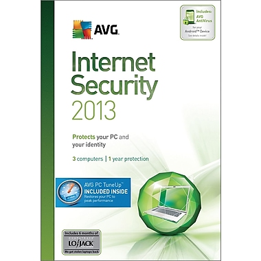 AVG Internet Security + PC Tune-Up 2013, 1-Year for Windows (1-3 User) [Boxed]