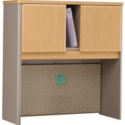 "Bush Cubix 36"" Hutch, Danish Oak and Sage"