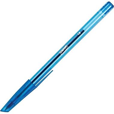 Staples® - Stylos à bille Stick, 1,0 mm, bleus, paq./12