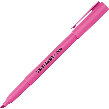 Papermate® Intro Pen-Style Highlighters, Pink, 12/Pack