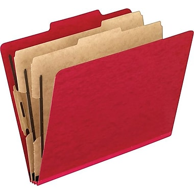 Pendaflex Coloured PressGuard® Classification Folder, Letter Size, Red