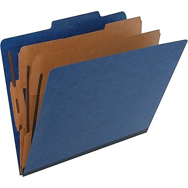Pendaflex Coloured PressGuard® Classification Folder, Letter Size, Blue