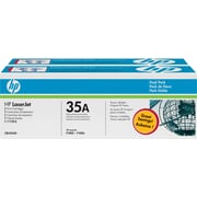 HP 35A (CB435D) Black Original LaserJet Toner Cartridges, 2/Pack