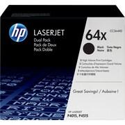 HP 64X (CC364XD) Black High Yield Original LaserJet Toner Cartridges, 2/Pack